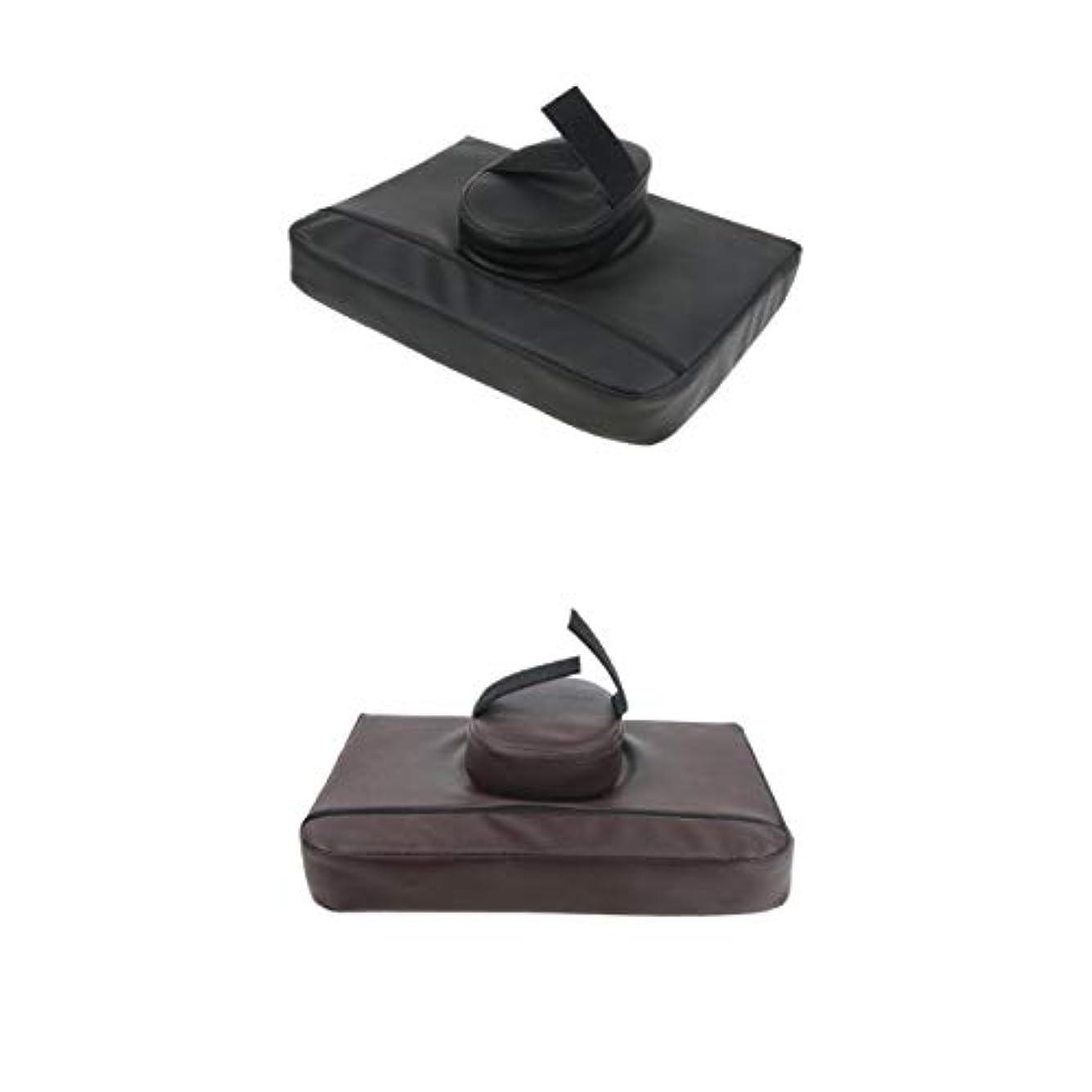壮大なモットー漏斗Fenteer マッサージクッション マッサージ枕 マッサージピロー スクエア マッサージテーブル用 通気性 2個入