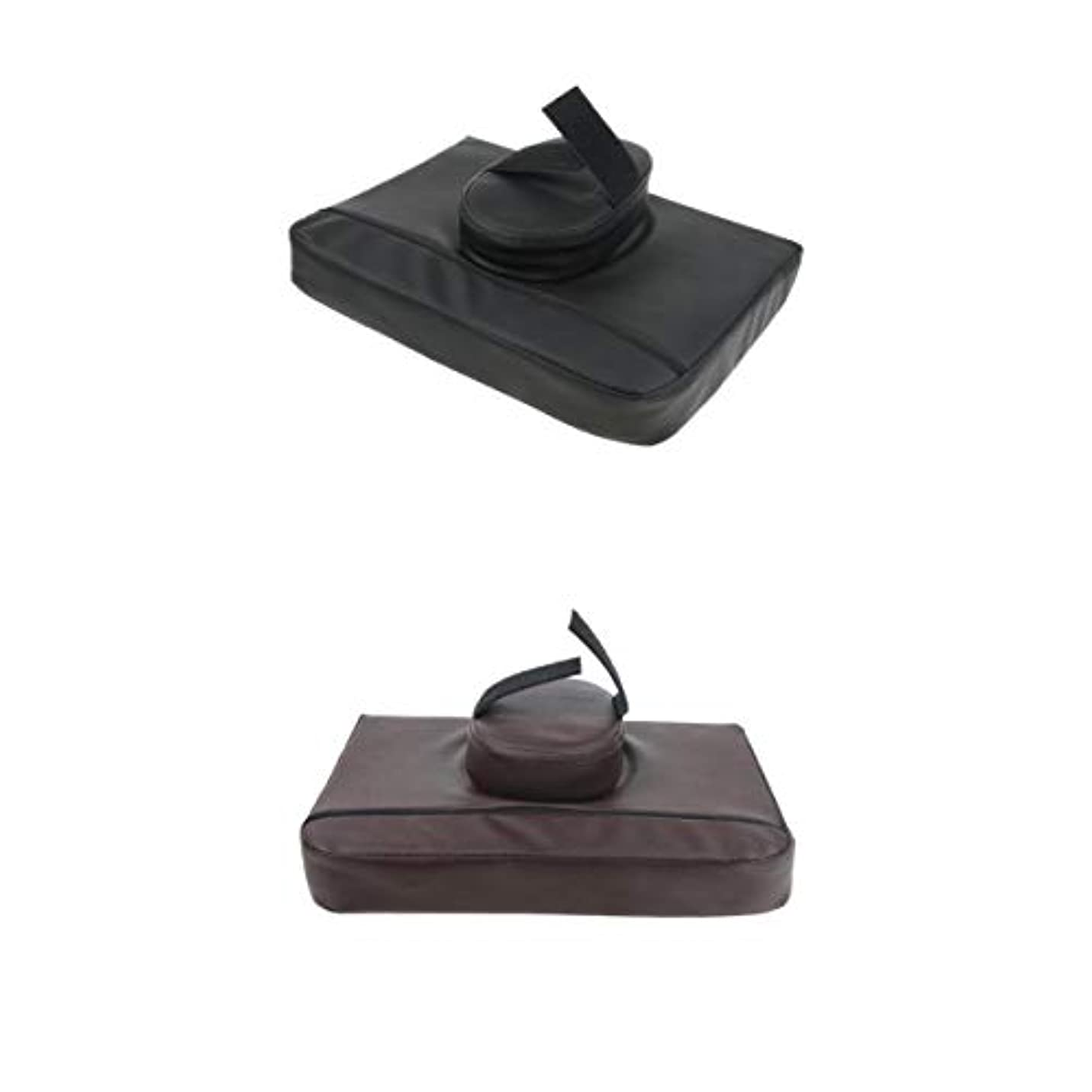 Fenteer マッサージクッション マッサージ枕 マッサージピロー スクエア マッサージテーブル用 通気性 2個入