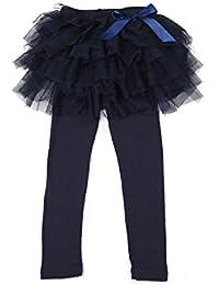(コマンス)commencerキッズ 10分丈レギンス付き3段チュチュスカート スカッツ チュールスカート スカート付レギンス