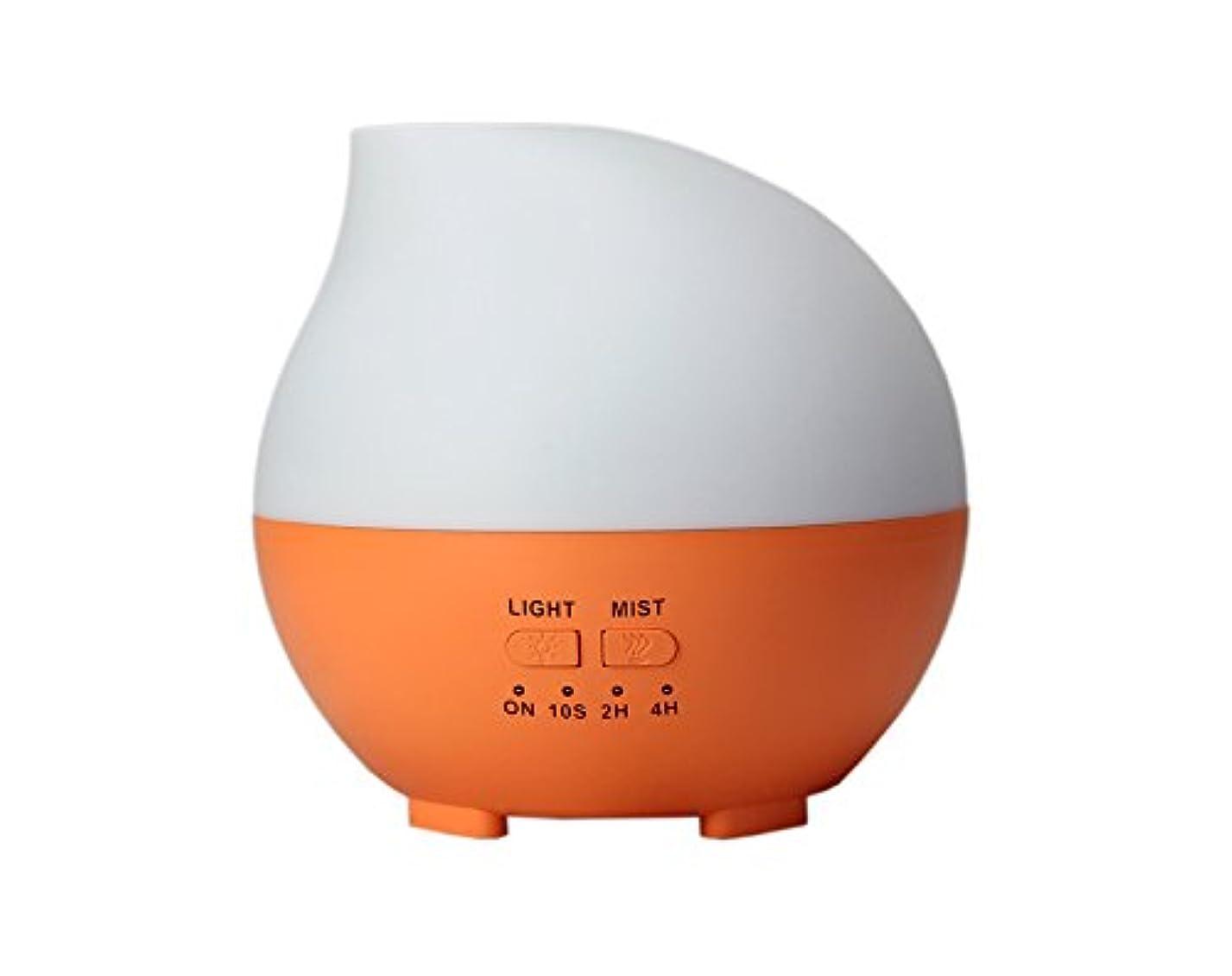 LIBESON 加湿器 卓上 超音波 静音大容量 アロマディフューザー コンセント差し込み式 ムードランプ シンプル ホイップ型 オレンジ