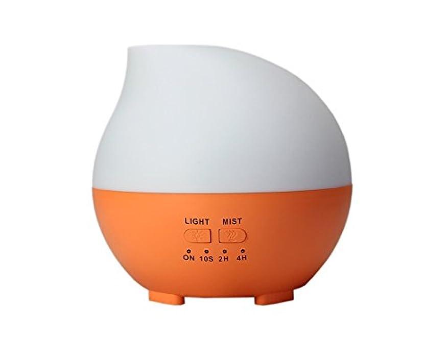 羨望ランダム水陸両用LIBESON 加湿器 卓上 超音波 静音大容量 アロマディフューザー コンセント差し込み式 ムードランプ シンプル ホイップ型 オレンジ
