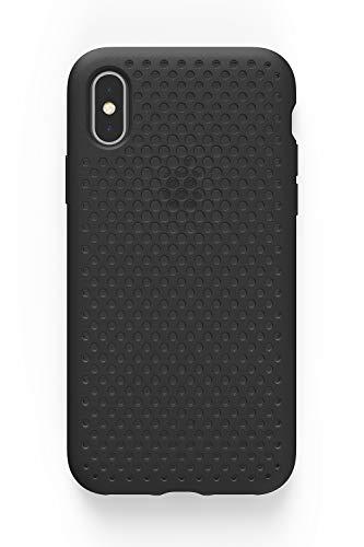 AndMesh iPhone X ケース メッシュケース Qi 充電 対応 耐衝撃   黒 ブラック AMMSX001-BLK
