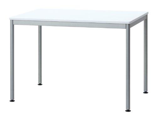 ナカバヤシ テーブル オフィスデスク パソコンデスク 100x60cm ホワイト HEM-1060W