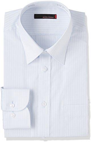 (はるやま) HARUYAMA 形態安定 レギュラーカラーワイシャツ/地付ストライプ H151170110 81 サックス LL86(首回り43cm×裄丈86cm)
