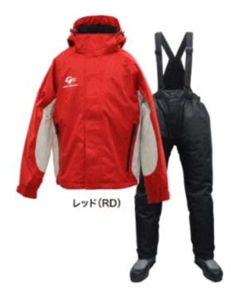 心のこもった安全既婚浜田商会 防水防寒ウィンタースーツ(上下セット)WBA-1510 レッド L