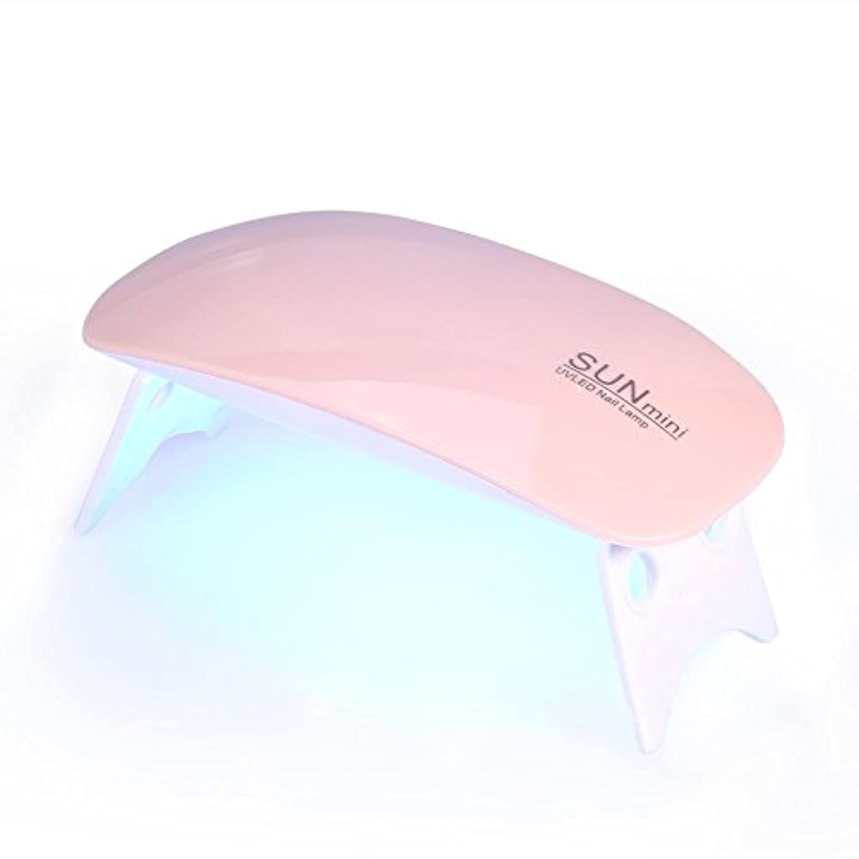 販売員アブストラクト知事Qinlorgo UVライトLEDネイルドライヤー硬化ランプ指の爪の爪に基づく45秒60秒タイマー6ワットジェルポリッシュ機ポータブルマニキュア乾燥ツール(ピンク)
