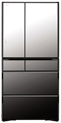 日立 冷蔵庫 クリスタルミラー R-WX7400G X