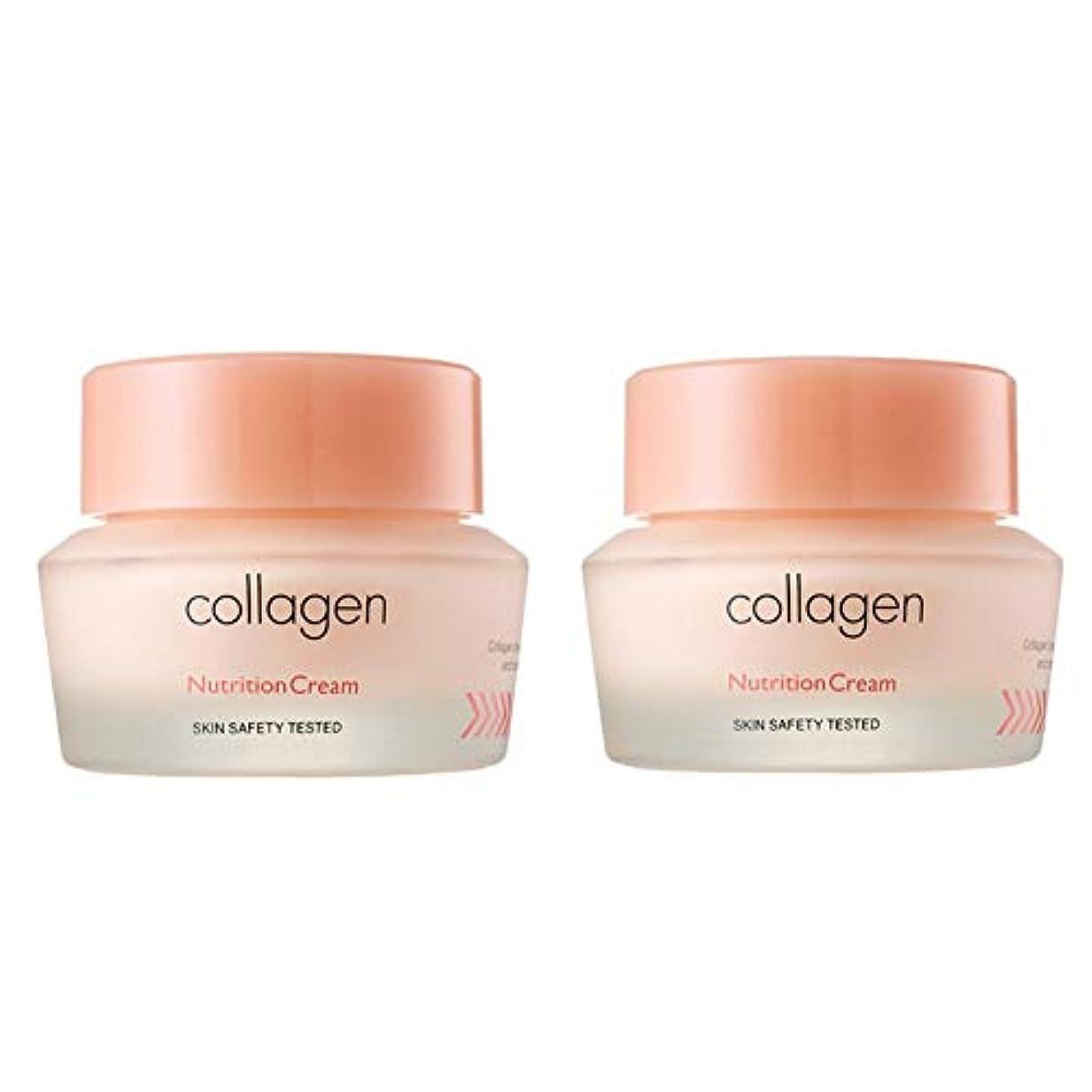 スケジュール日食フレットイッツスキンコラーゲン栄養クリーム50ml x 2本セット、It's Skin Collagen Nutrition Cream 50ml x 2ea Set [並行輸入品]