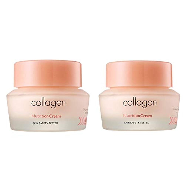 円形頭疎外するイッツスキンコラーゲン栄養クリーム50ml x 2本セット、It's Skin Collagen Nutrition Cream 50ml x 2ea Set [並行輸入品]