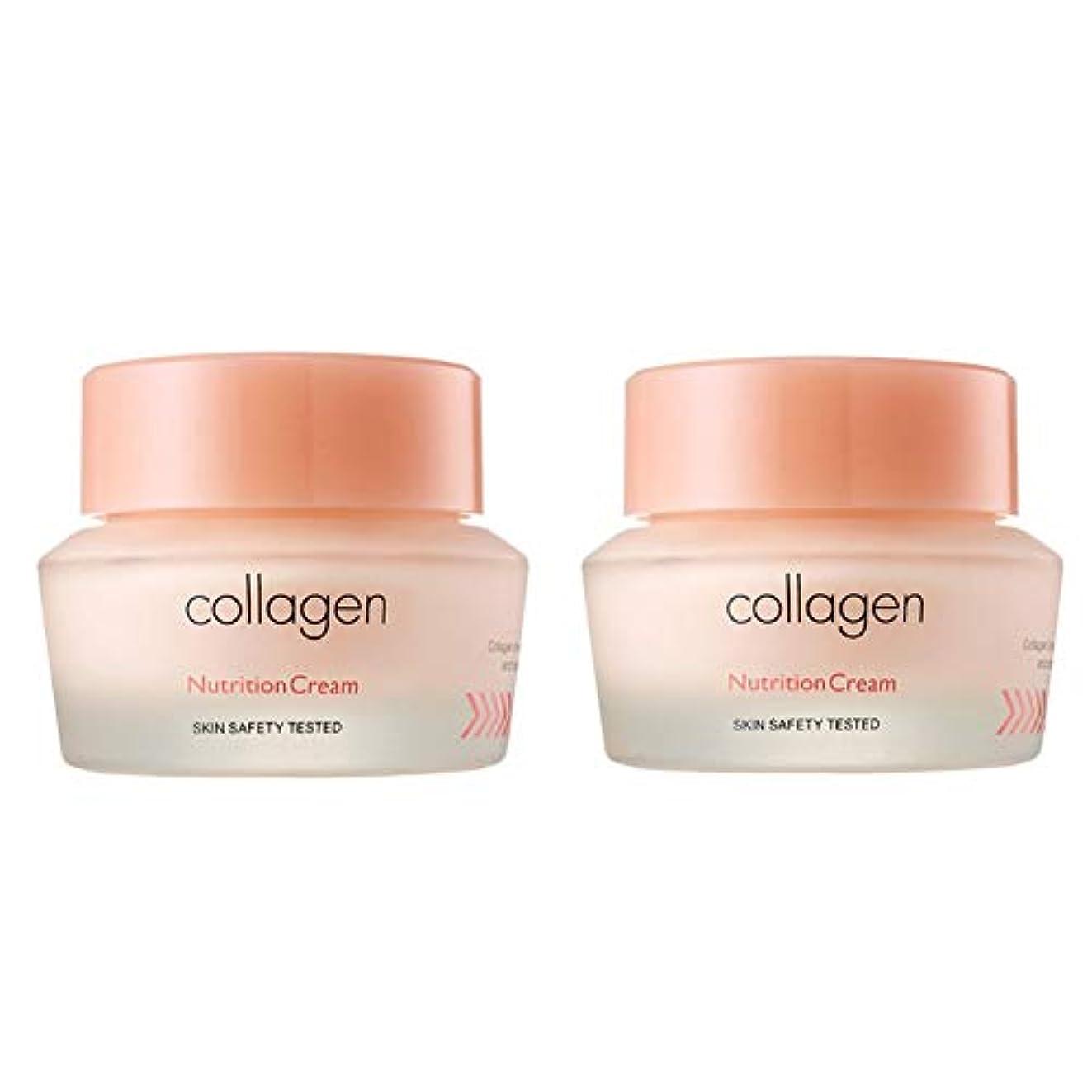 鉛方向警察署イッツスキンコラーゲン栄養クリーム50ml x 2本セット、It's Skin Collagen Nutrition Cream 50ml x 2ea Set [並行輸入品]