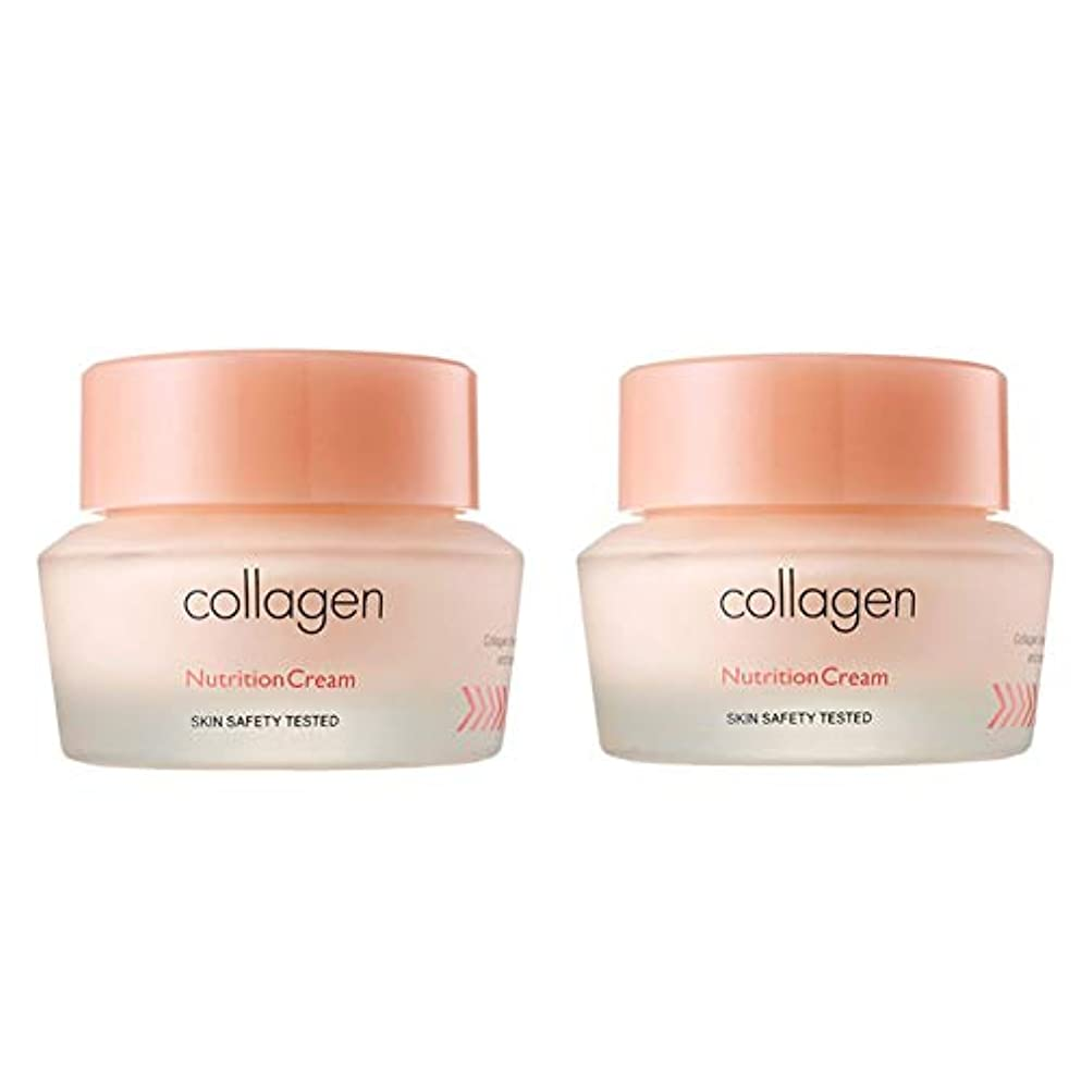 バリー音軍団イッツスキンコラーゲン栄養クリーム50ml x 2本セット、It's Skin Collagen Nutrition Cream 50ml x 2ea Set [並行輸入品]