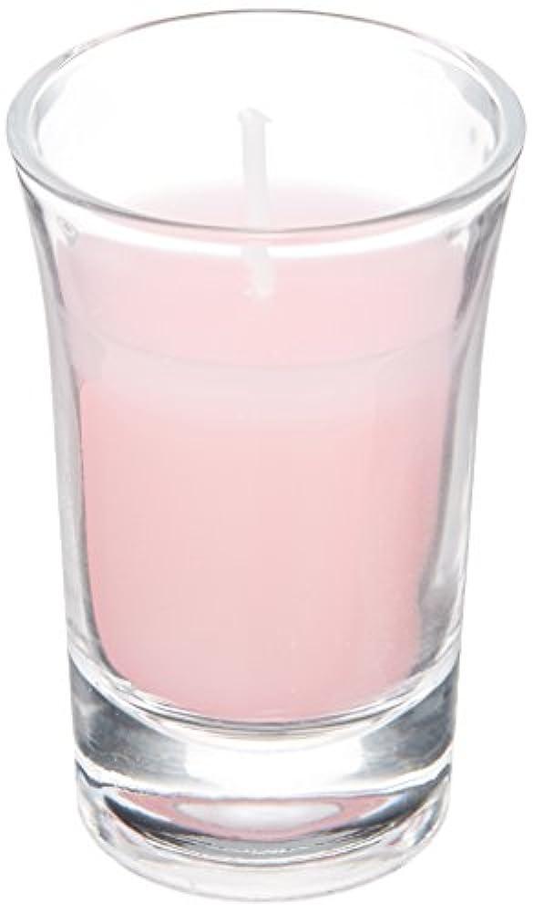 慢な夕暮れ素晴らしきラナンキュラスグラスキャンドル 「 ピンク 」