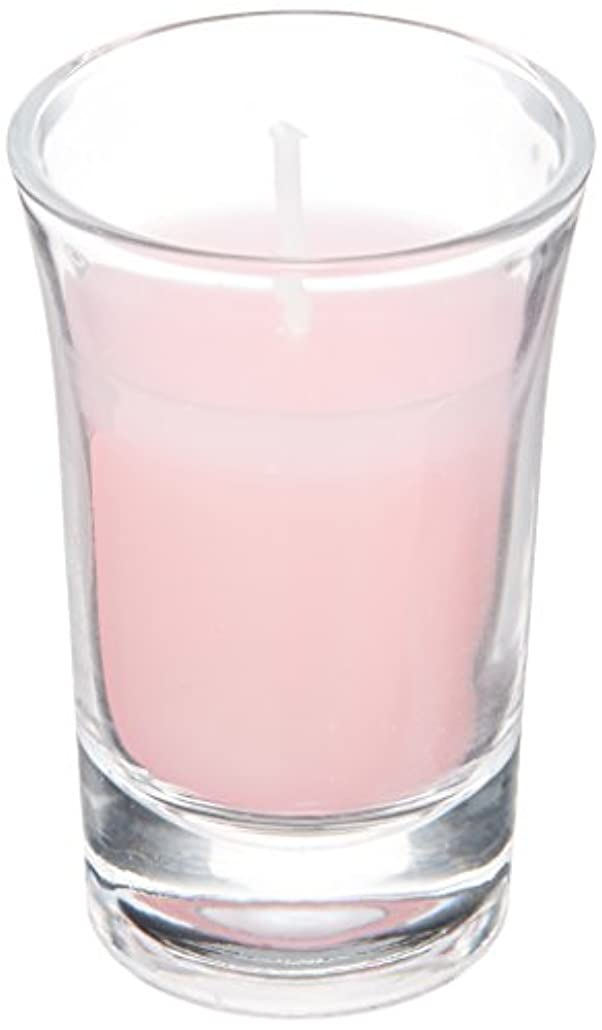雷雨離れて廃棄ラナンキュラスグラスキャンドル 「 ピンク 」