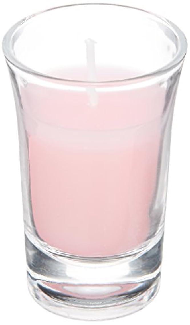 差し控えるおばさん乳白色ラナンキュラスグラスキャンドル 「 ピンク 」