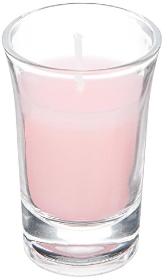 熱狂的な快適解決するラナンキュラスグラスキャンドル 「 ピンク 」