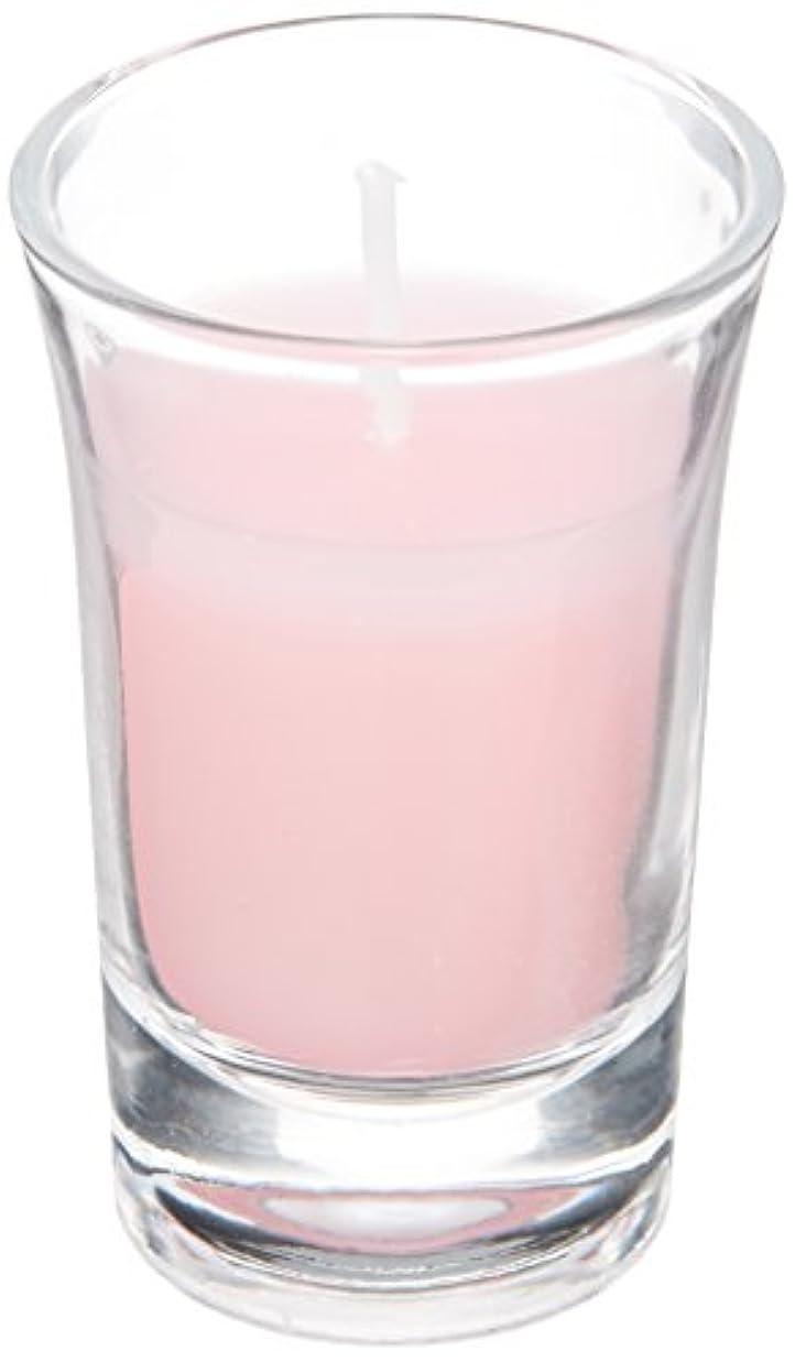 キー限られたボットラナンキュラスグラスキャンドル 「 ピンク 」