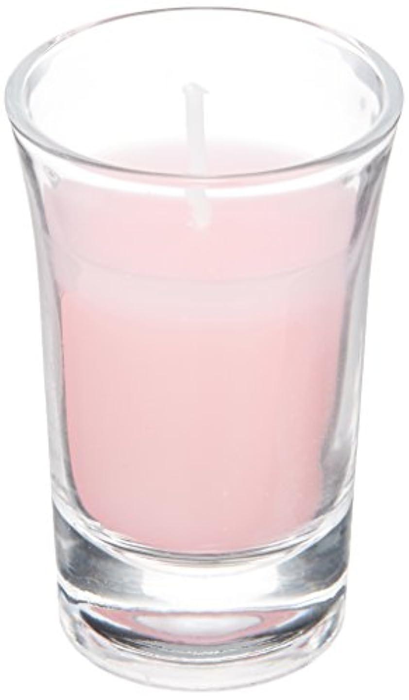 マークされた何よりもカウンタラナンキュラスグラスキャンドル 「 ピンク 」