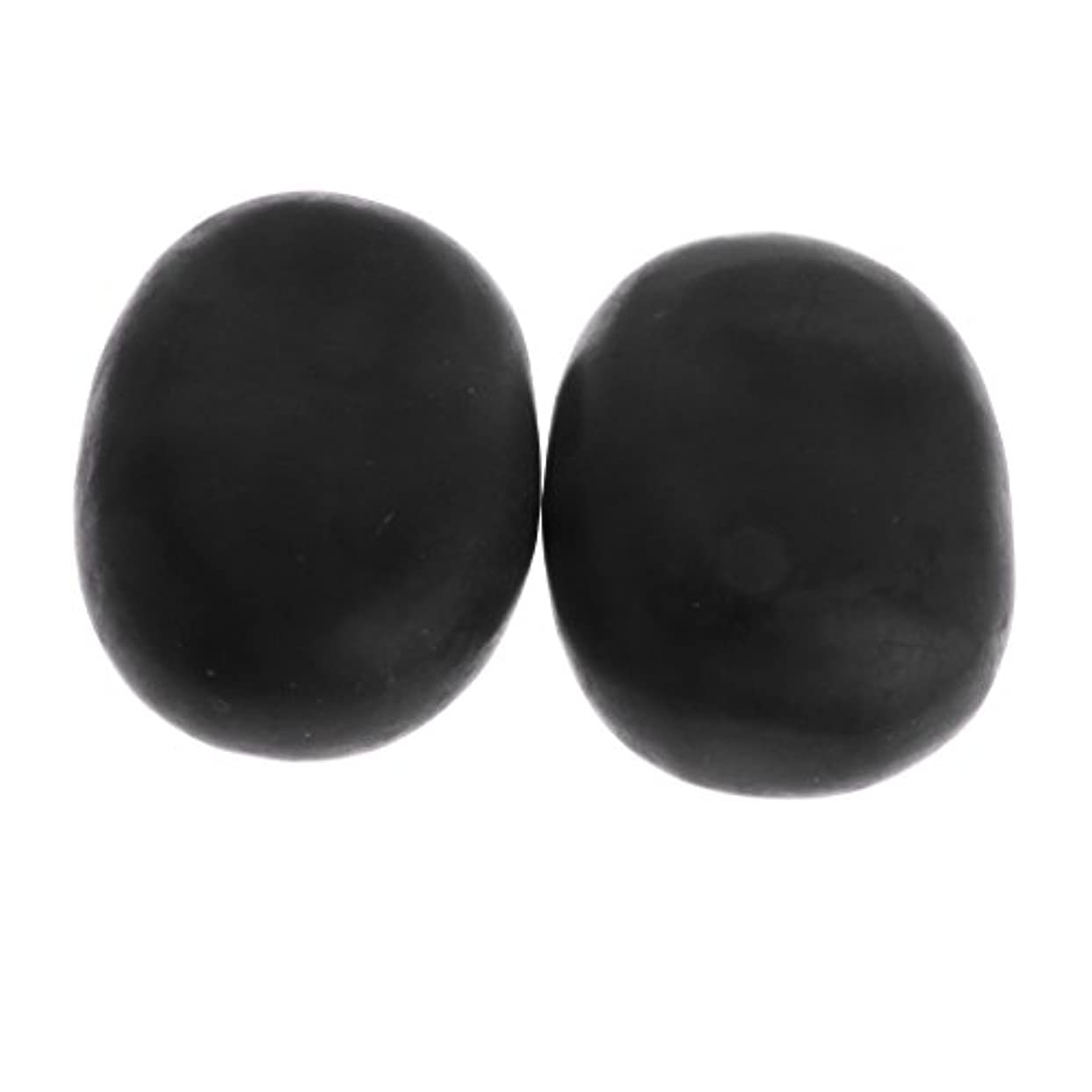 Kesoto マッサージ石 2個 温泉石 玄武岩 火山石 マッサージ 溶岩 自然石