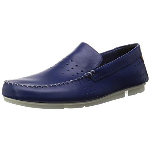 [クラークス] スリッポン メンズ トライモックサン Mens Trimocc Sun(旧モデル) Blue Leather(ブルーレザー/075)
