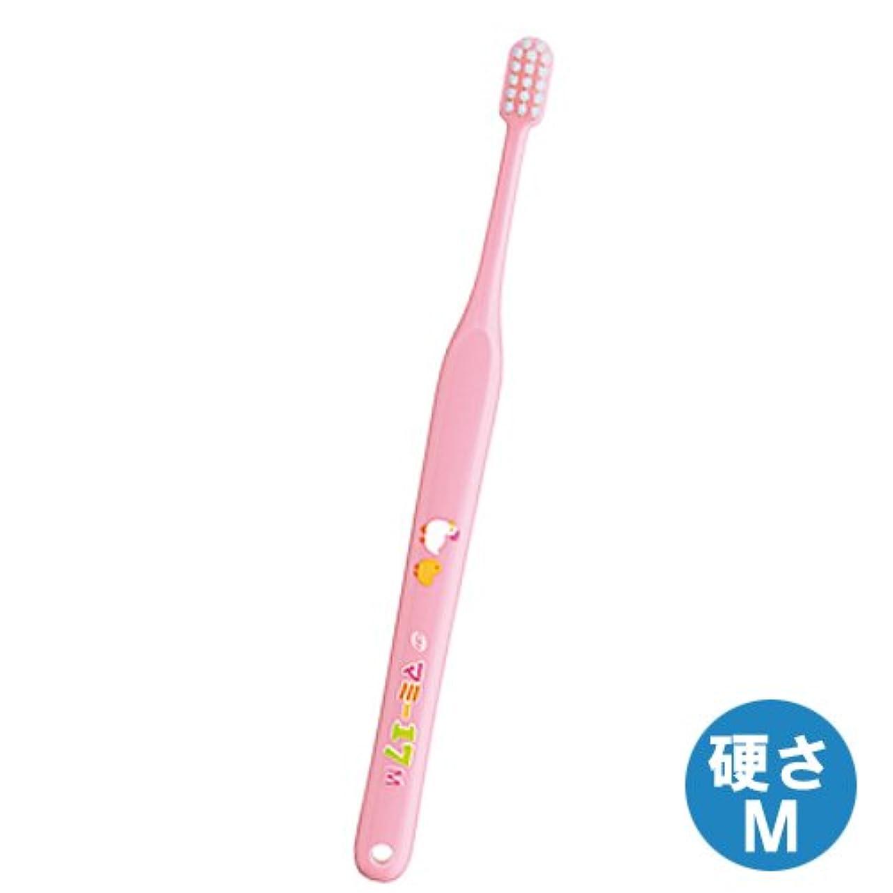 ピボット割り当てるビルダーマミー17歯ブラシ 1本 ミディアム(M)ピンク