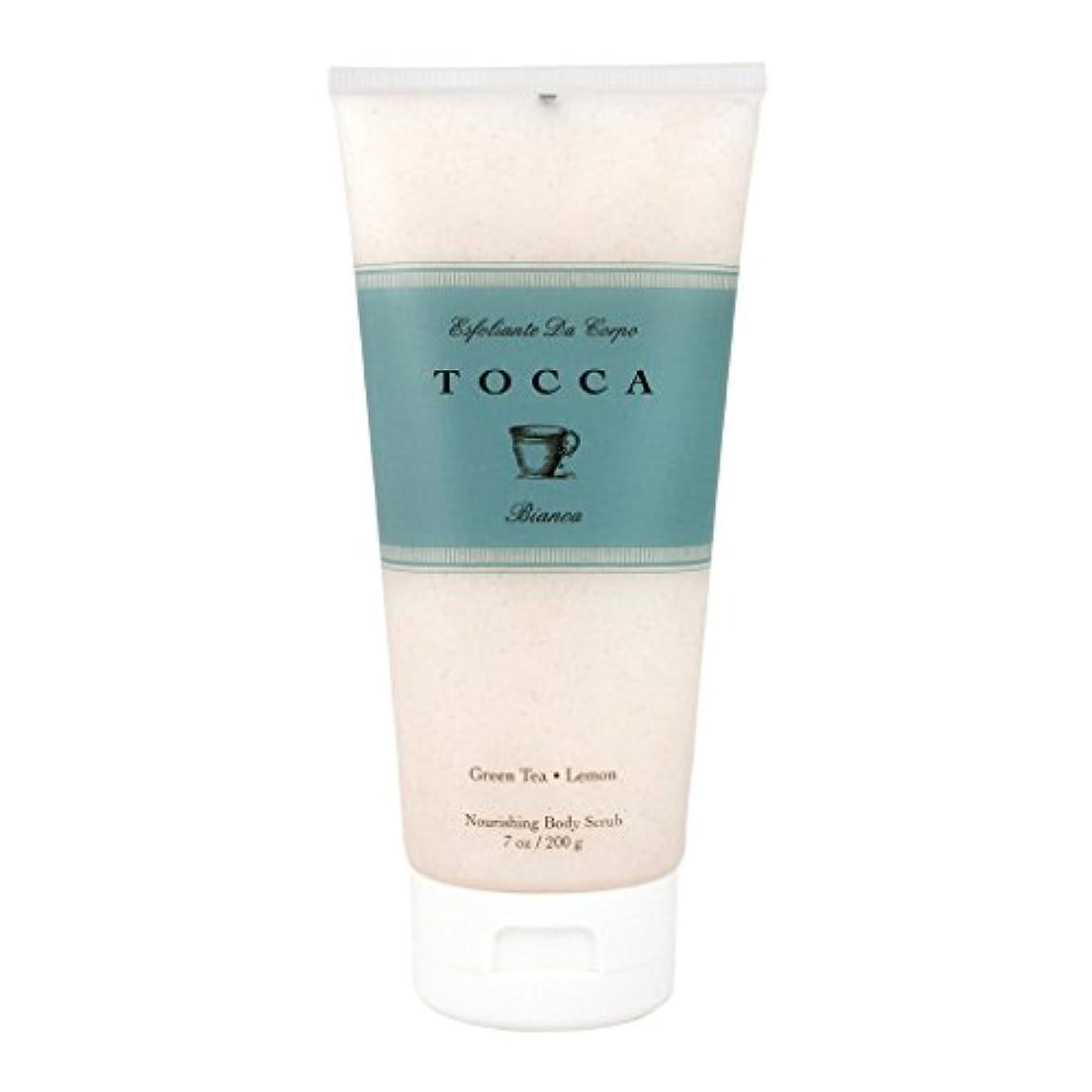 猟犬型加速度トッカ(TOCCA) ボディーケアスクラブ  ビアンカの香り 200ml(全身?ボディー用マッサージ料 シトラスとグリーンティー、ローズが絶妙に溶け合ったほのかに甘さ漂うフレッシュな香り)