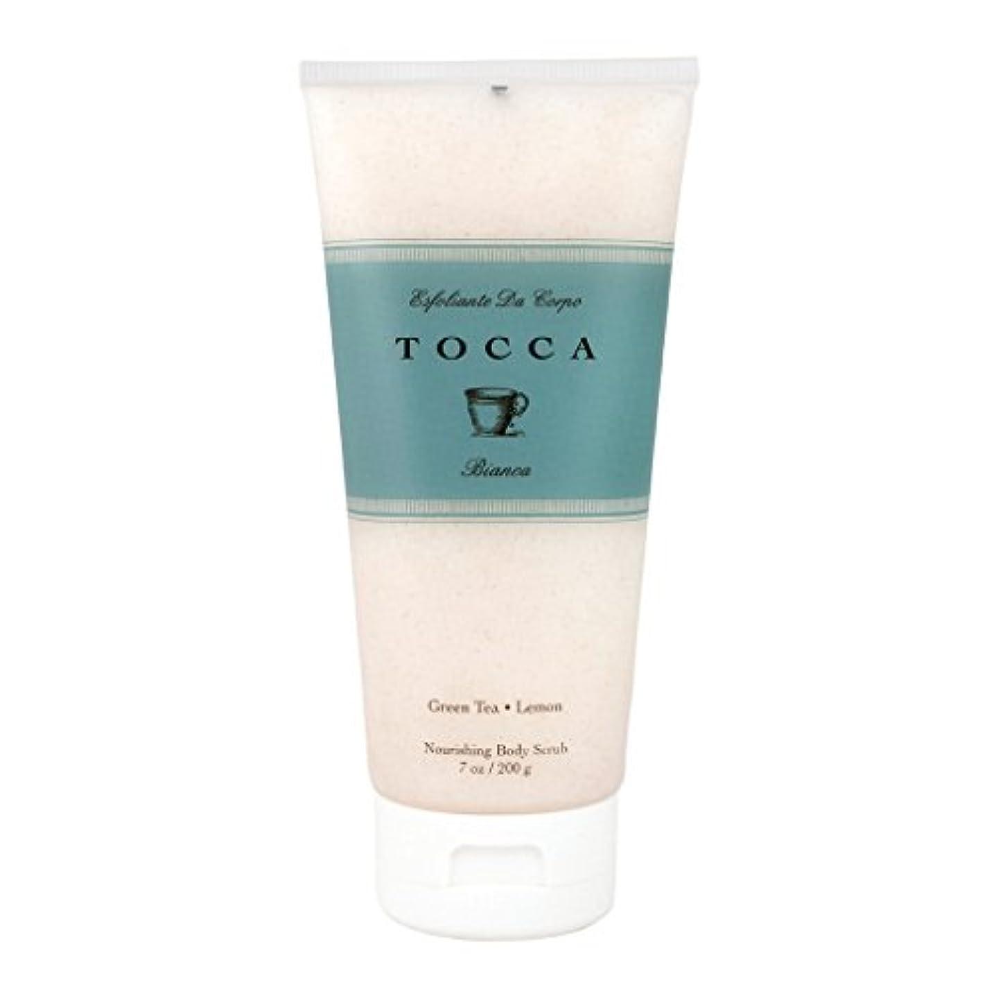 電信比類のない買うトッカ(TOCCA) ボディーケアスクラブ  ビアンカの香り 200ml(全身?ボディー用マッサージ料 シトラスとグリーンティー、ローズが絶妙に溶け合ったほのかに甘さ漂うフレッシュな香り)