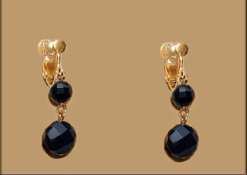 [해외]귀걸이 여성 블랙 오닉스 귀걸이 검은 흔들리는 심플한 기념일 파워 스톤 크리스마스 쁘띠 플라스틱 미러볼/Earrings Women`s Black Onyx Earring Black Shaking Simple Anniversary Power Stone Christmas Petit Plaar Mirror Ball