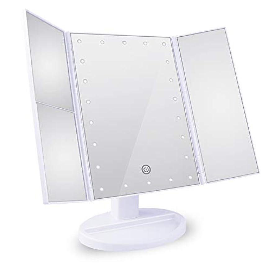 リーチリズミカルな傾向Tree. NB 化粧鏡 卓上鏡 拡大鏡 鏡 メイクミラー 2倍&3倍拡大可能 LEDライトミラー 明るさ調節可能 180°回転 電池&USB 2WAY給電