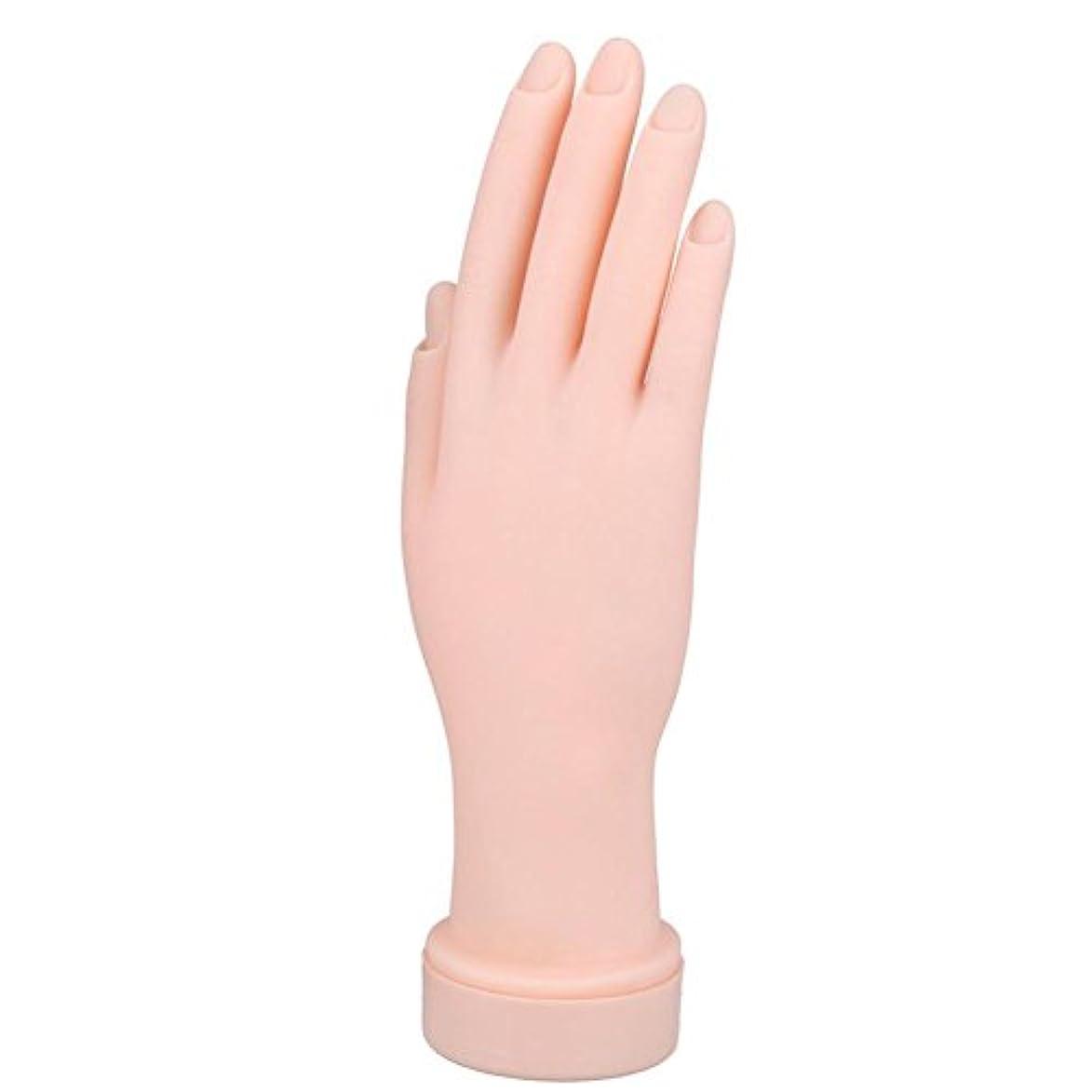 Sunsoar ネイルアート 練習用ハンド 指が曲げる