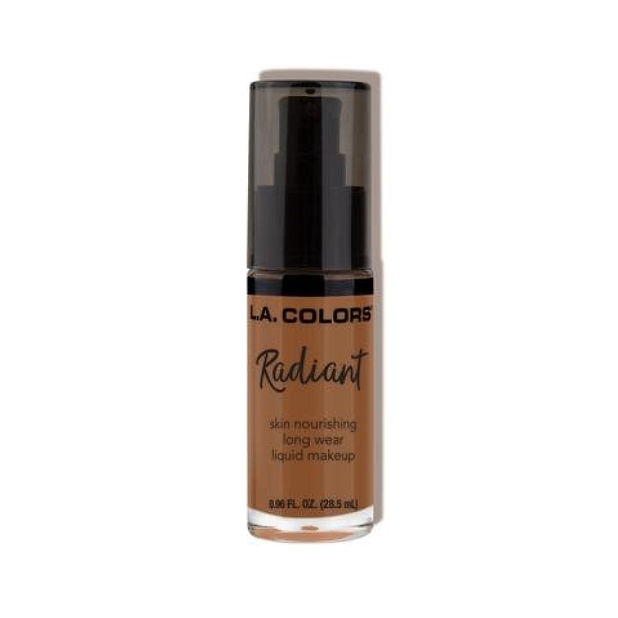 エキスパート目を覚ます血色の良い(3 Pack) L.A. COLORS Radiant Liquid Makeup - Ginger (並行輸入品)