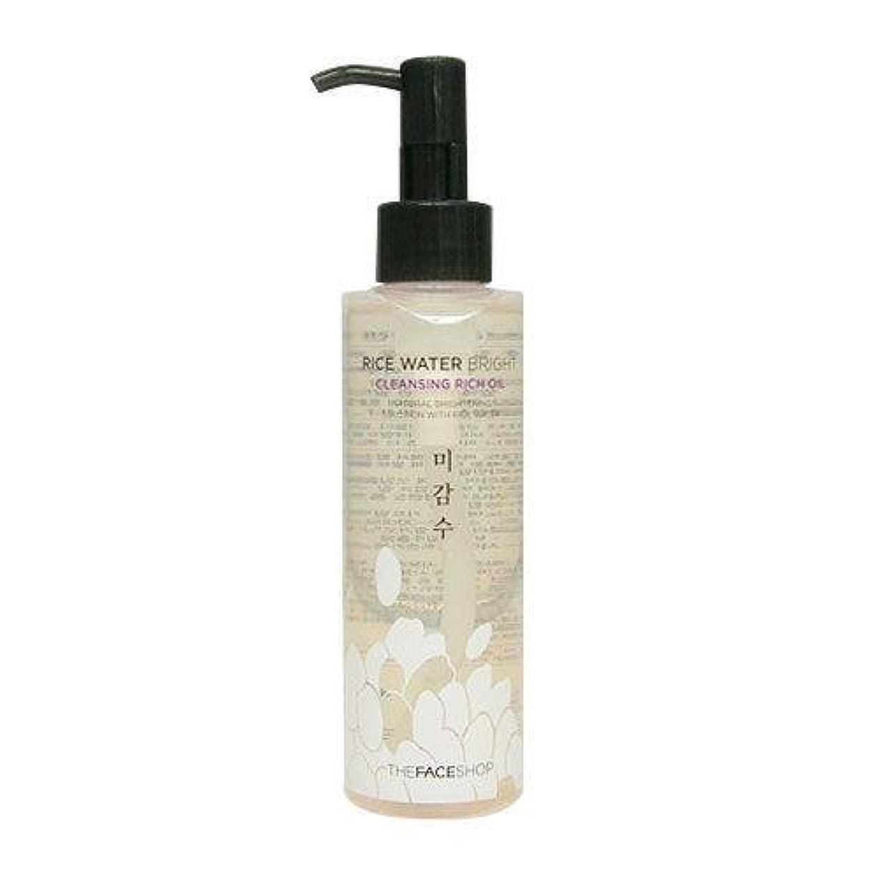 禁止する土有名The Face Shop Rice Water Bright Cleansing Rich Oil (Dry Skin) (Korean original)