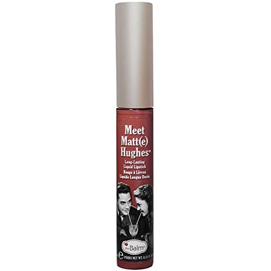 忠実芝生未接続theBalm - Meet Matt(e) Hughes Long-Lasting Liquid Lipstick Trustworthy [並行輸入品]
