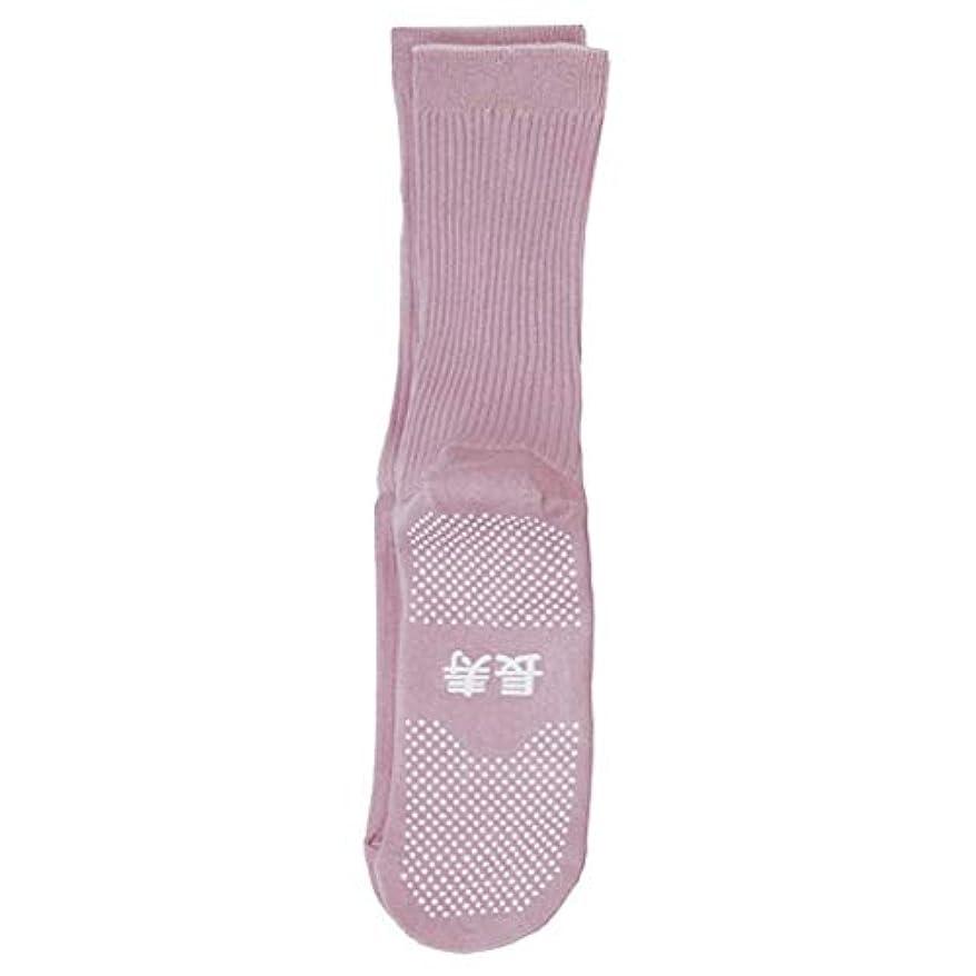 コベス 婦人すべり止め綿混ソックス長寿 春夏用 22~24cm ピンク