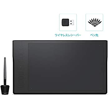 HUION ペンタブレット 無線 8192レベル筆圧感知 ワイヤレス接続可 8個のショートカットキー最新ドライバ、11 x 6.875インチ作業領域ペンタブレット (Q11K)