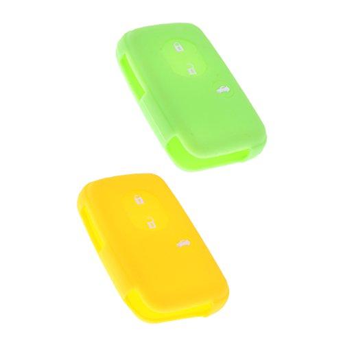 [해외]Lovoski 2 점 세트 5 색 선택 도요타 캠리 대응 자동차 원격 키 케이스 커버 실리콘/Lovoski 2 colors 5 colors to choose Toyota Camry compatible car remote key case cover made of silicone