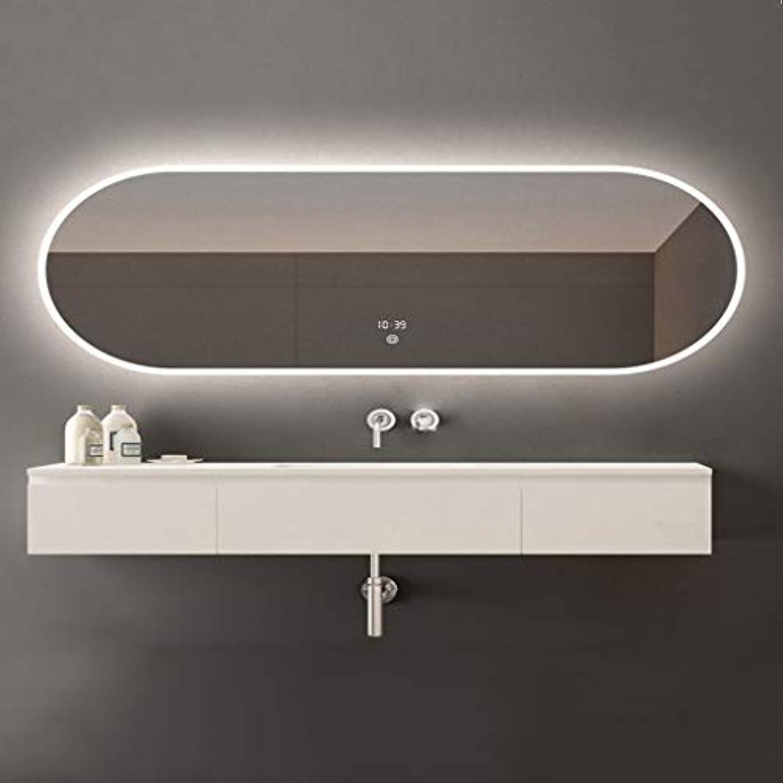 縮約爆発物存在SWNE LED照明付き浴室壁掛けミラー+防曇+調光対応タッチボタン+ IP44防水、化粧用化粧化粧品または剃毛、防爆