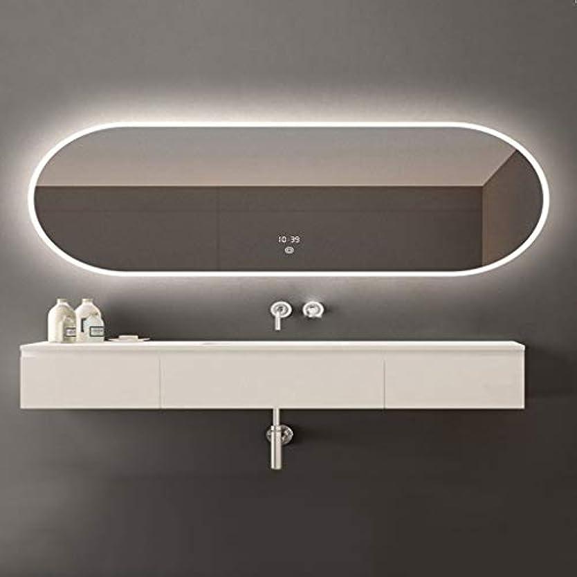 研究乞食ポルノSWNE LED照明付き浴室壁掛けミラー+防曇+調光対応タッチボタン+ IP44防水、化粧用化粧化粧品または剃毛、防爆
