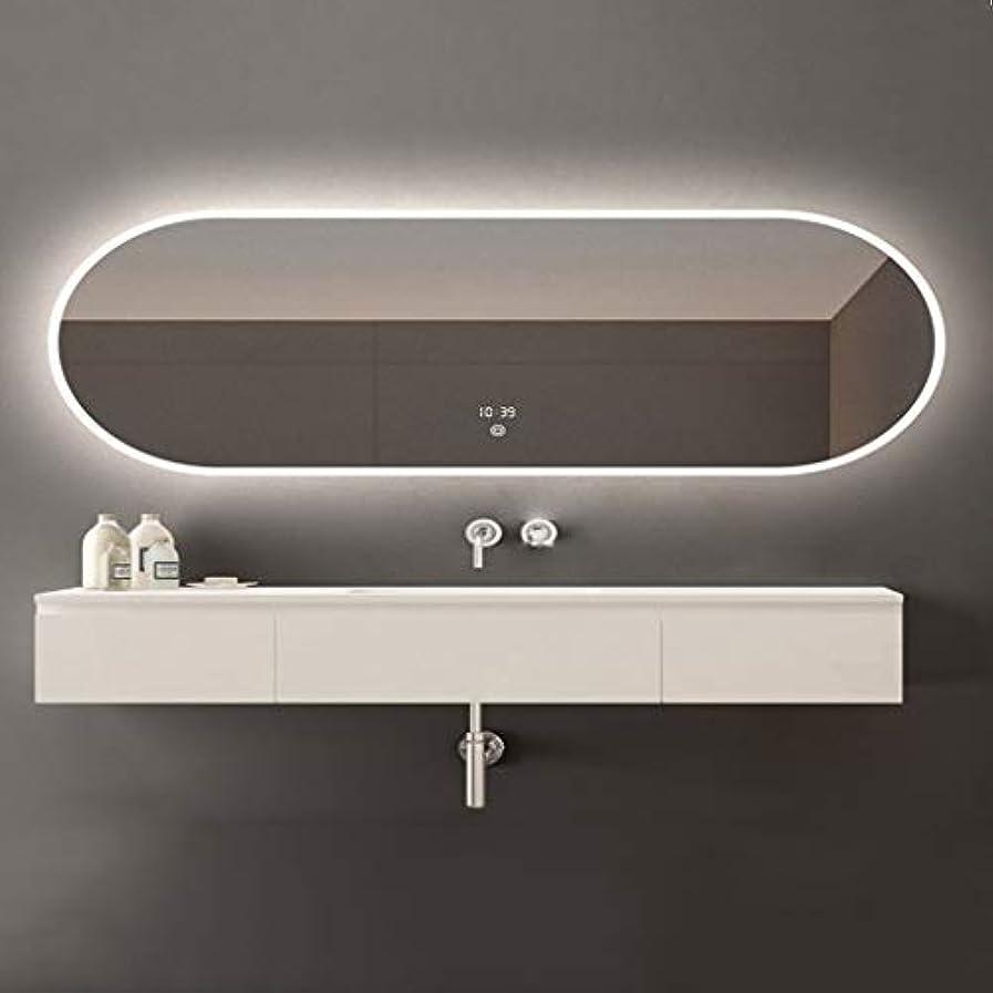 手のひらサーキュレーション衝動SWNE LED照明付き浴室壁掛けミラー+防曇+調光対応タッチボタン+ IP44防水、化粧用化粧化粧品または剃毛、防爆