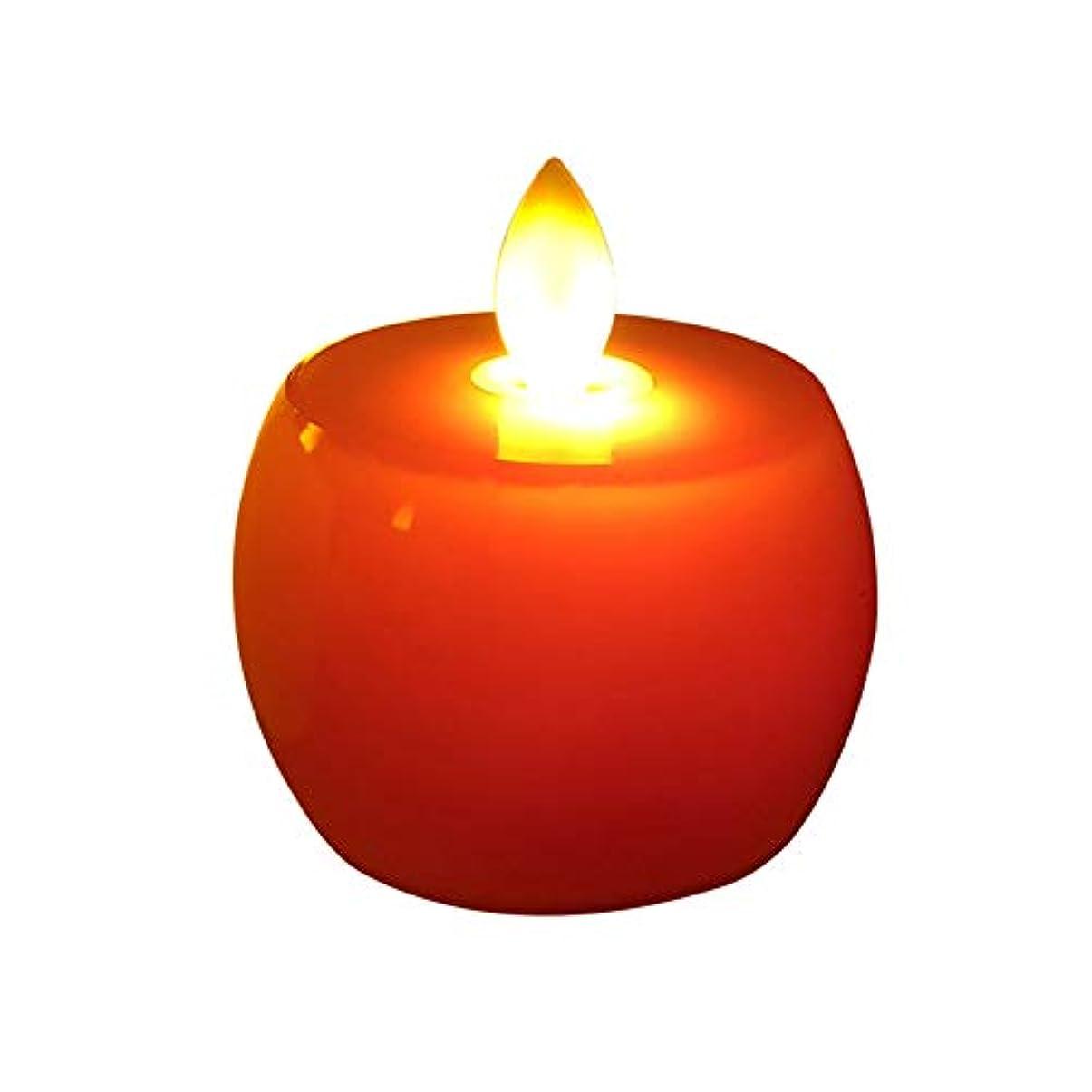 付与ラリーベルモント申し立てる2つの作品は、クリスマスのリンゴは、電子キャンドル、ショー家の装飾のギフトの小さな贈り物、驚きのレイアウト創造的なキャンドルライトを導きました