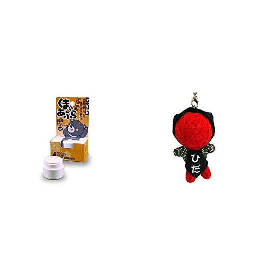 運河時系列奇跡[2点セット] 信州木曽 くまのあぶら 熊油スキン&リップクリーム(9g)?ハッピー さるぼぼドール ブドゥドール(ストラップ) / 魔除け?身代わり人形 //