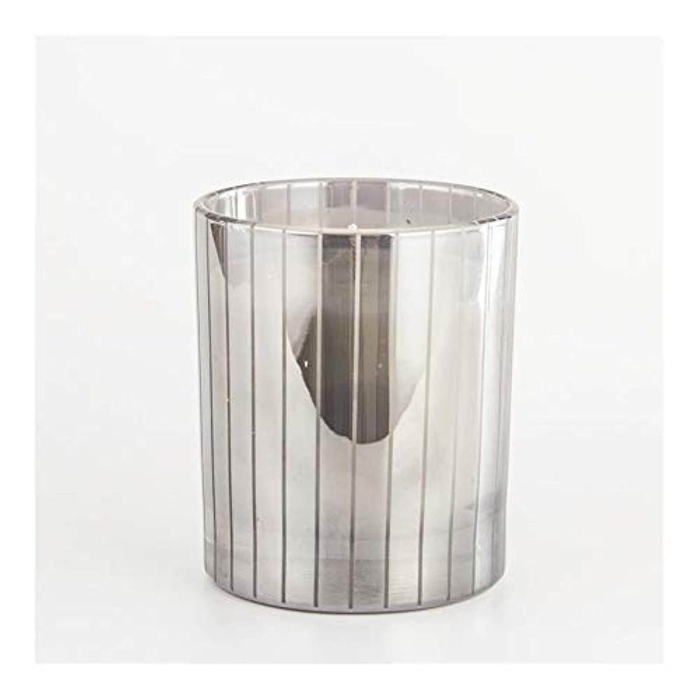 塗抹時々囚人Guomao シルバーストライプカップキャンドルカップワックスワックスアロマセラピーキャンドルガラスワックスカップ