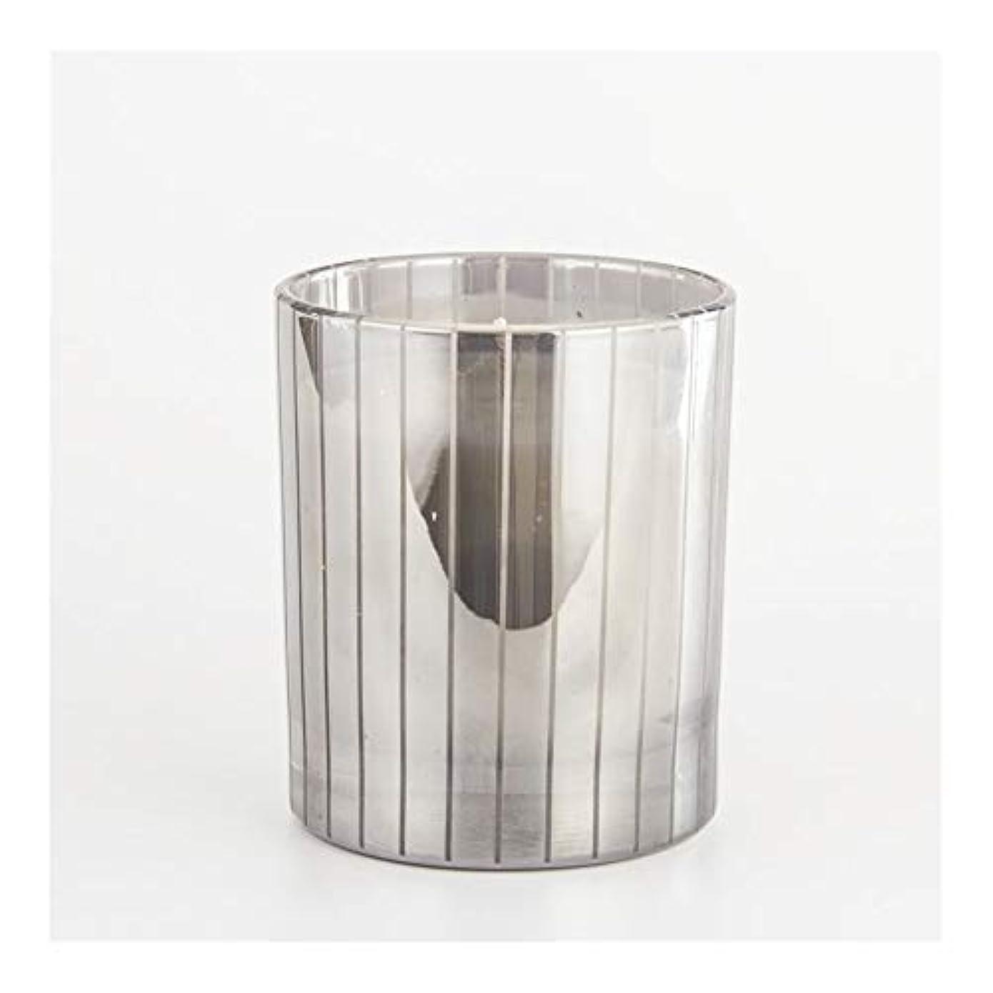 施し財政はぁGuomao シルバーストライプカップキャンドルカップワックスワックスアロマセラピーキャンドルガラスワックスカップ