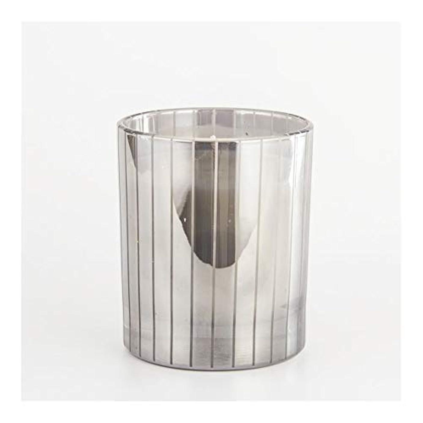 であること美しい拡張Ztian シルバーストライプカップキャンドルカップワックスワックスアロマセラピーキャンドルガラスワックスカップ