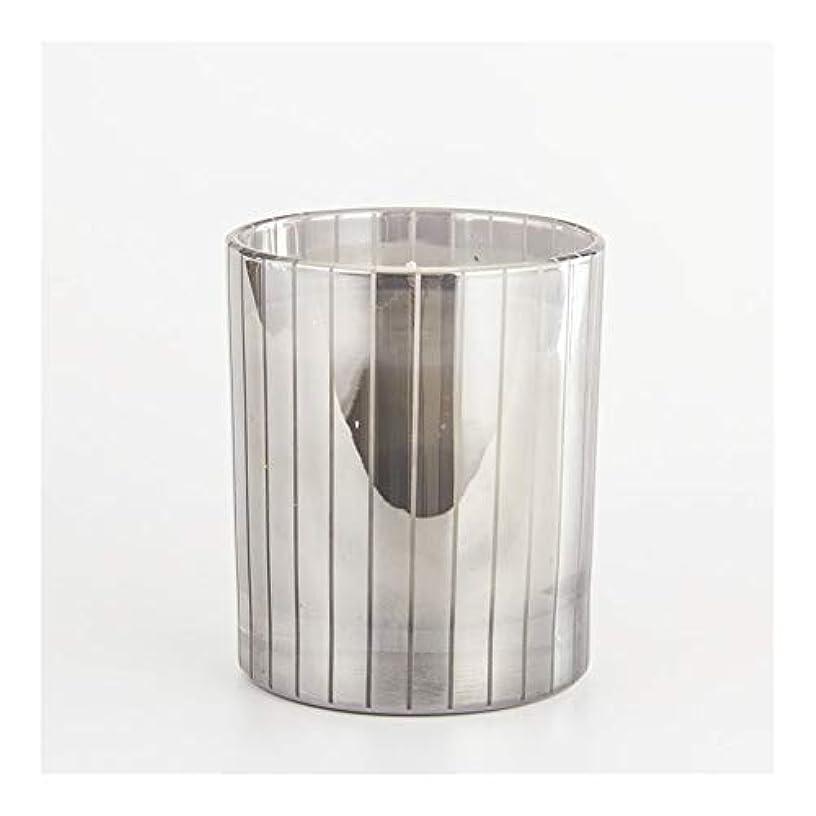 シソーラス抵抗力がある指紋Guomao シルバーストライプカップキャンドルカップワックスワックスアロマセラピーキャンドルガラスワックスカップ