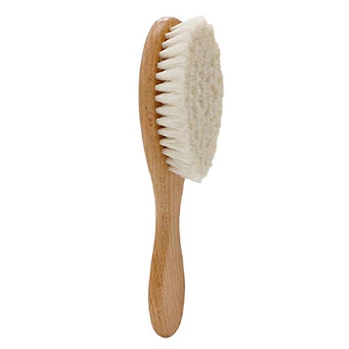 サンダルコンピューターを使用するパントリーSODIAL 木製ハンドル理髪ソフトファイバーブラシ床屋首ダスタークリーニング削除ブラシヘアスタイリングツール