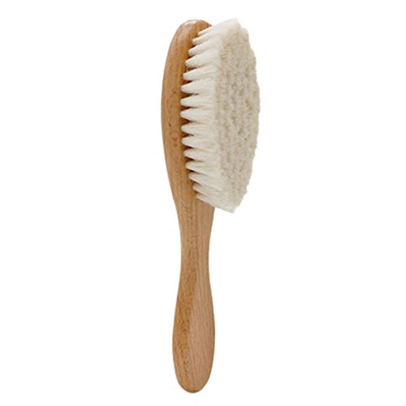 野菜の間でスリムTOOGOO 木製ハンドル理髪ソフトファイバーブラシ床屋首ダスタークリーニング削除ブラシヘアスタイリングツール