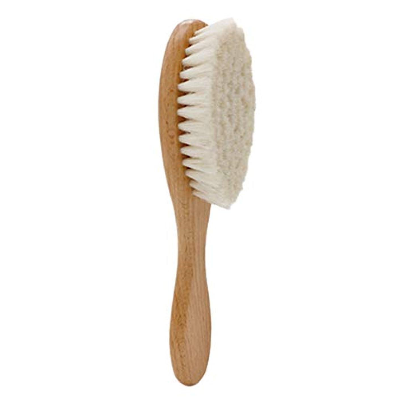 補体礼儀混合したSODIAL 木製ハンドル理髪ソフトファイバーブラシ床屋首ダスタークリーニング削除ブラシヘアスタイリングツール