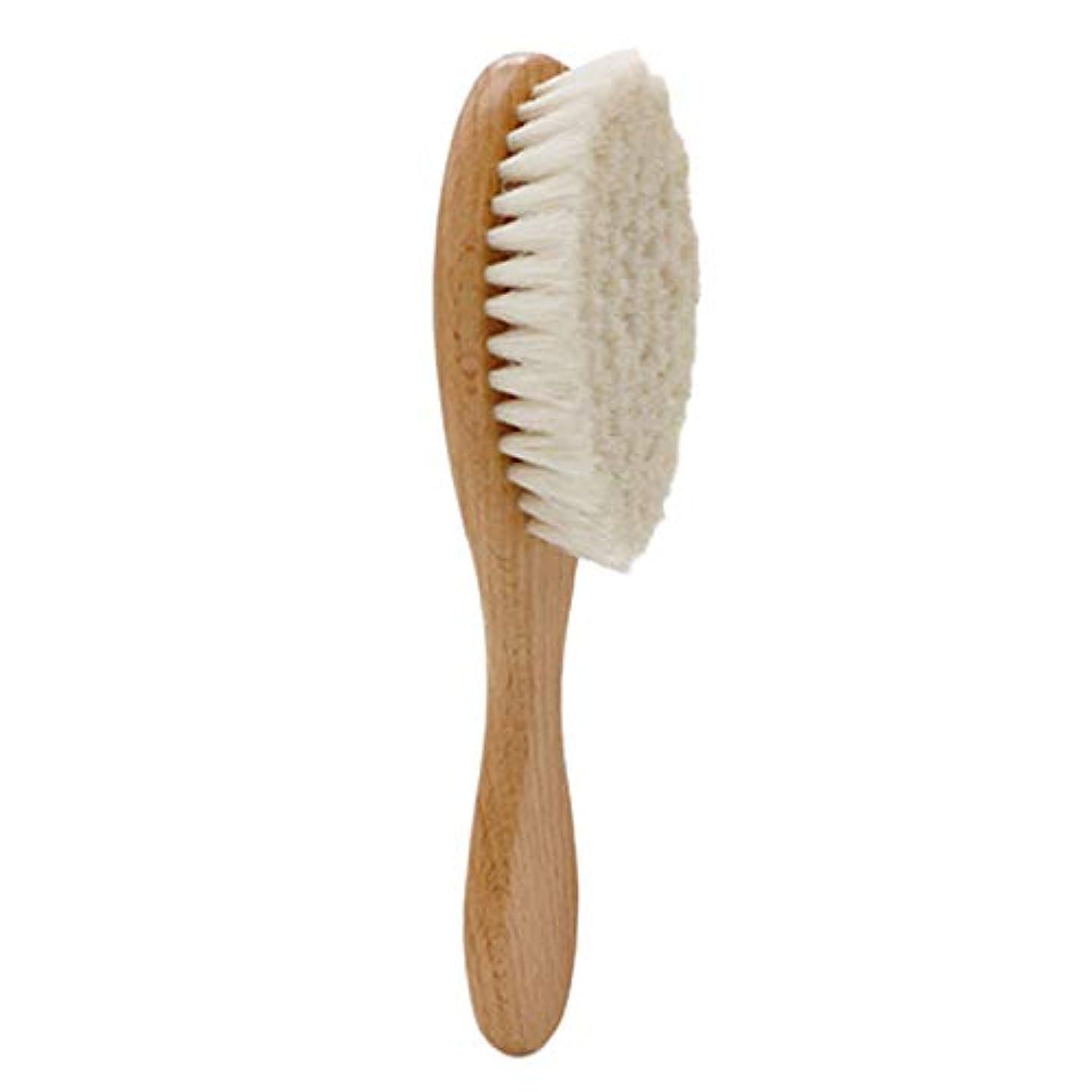 表面と闘う各SODIAL 木製ハンドル理髪ソフトファイバーブラシ床屋首ダスタークリーニング削除ブラシヘアスタイリングツール