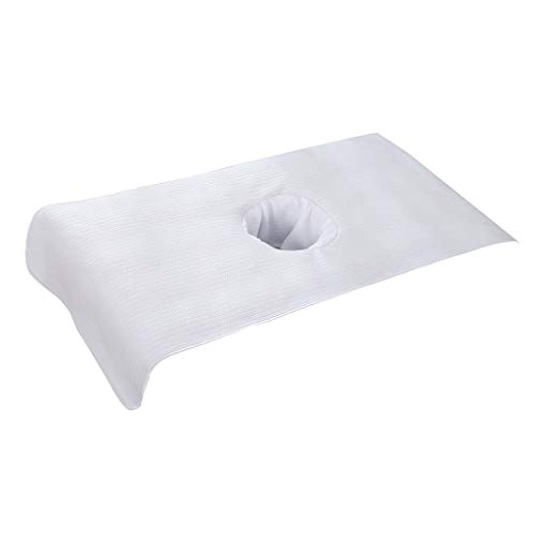 なんでも反対再現するP Prettyia 全5色 マッサージベッドカバー 穴付き 美容ベッドカバー マッサージテーブルスカート スパ ショートカバー - 白