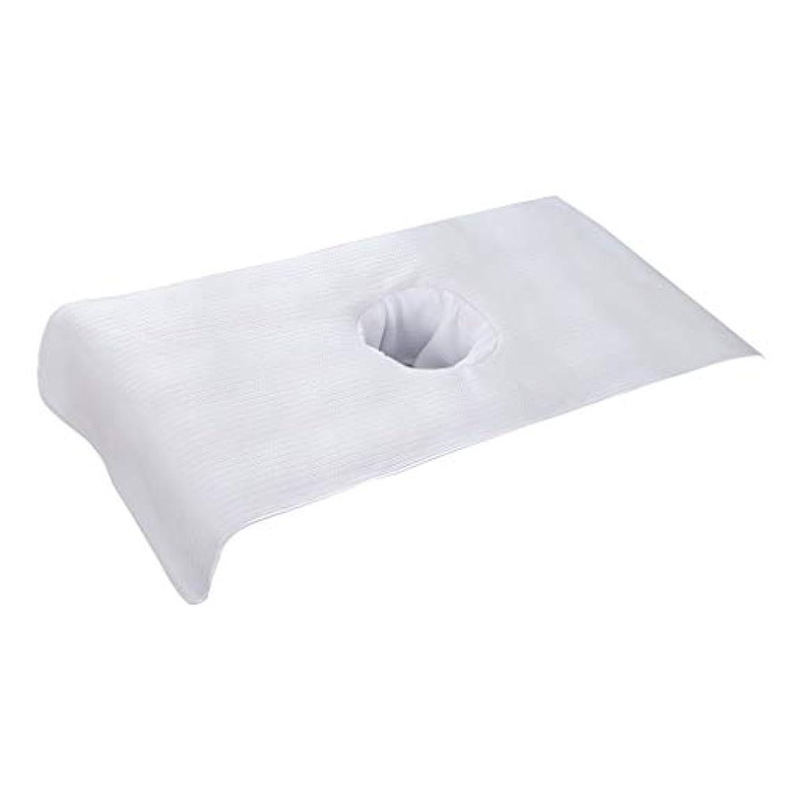 代理人リフレッシュから全5色 マッサージベッドカバー 穴付き 美容ベッドカバー マッサージテーブルスカート スパ ショートカバー - 白